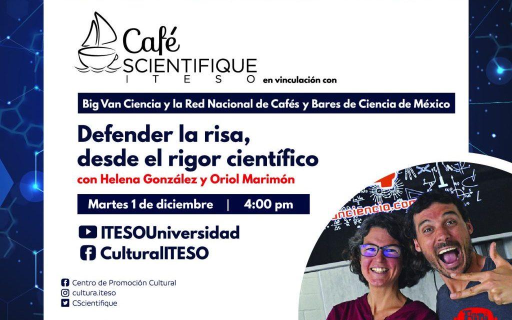 Defienden la risa desde el rigor académico en el Café Scientifique